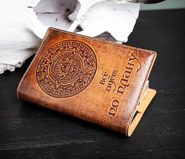 BY05-51-01 Кожаный подарочный ежедневник «Все идет по плану» (А6) фото 04
