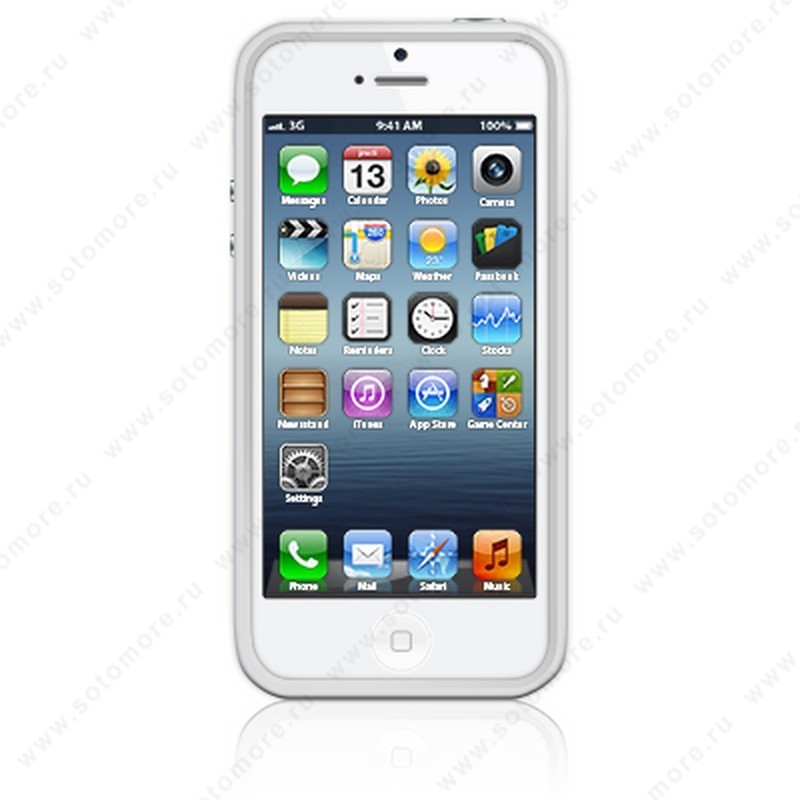 Бампер Apple для Apple iPhone SE/ 5s/ 5C/ 5 Bumpers белый