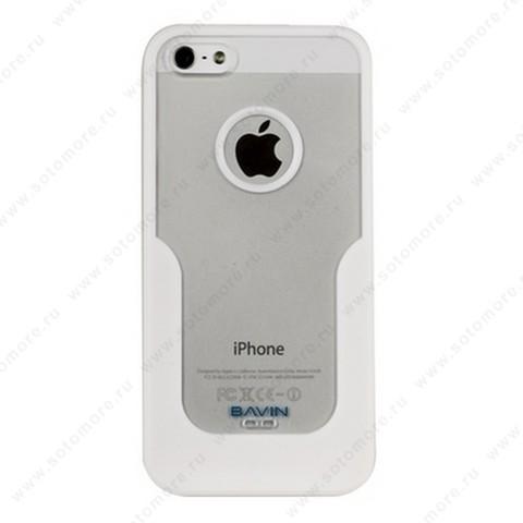 Накладка R PULOKA для iPhone SE/ 5s/ 5C/ 5 с подковой белая