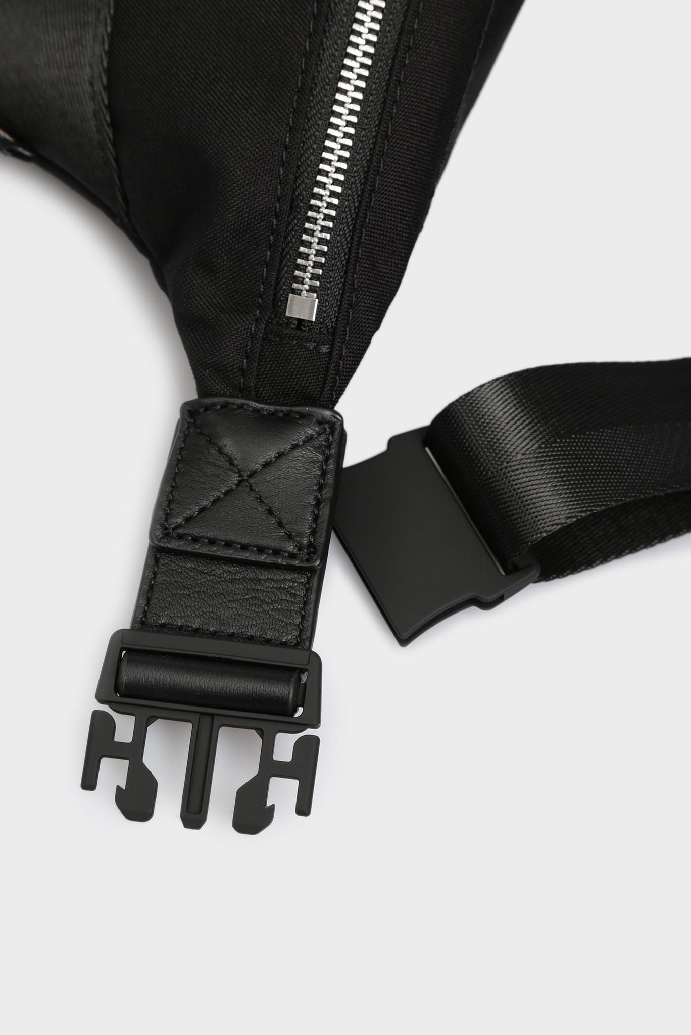 Мужская черная кожаная поясная сумка URBHANITY Diesel