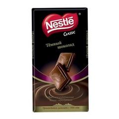 Nestle шоколадная плитка Темный шоколад 90г