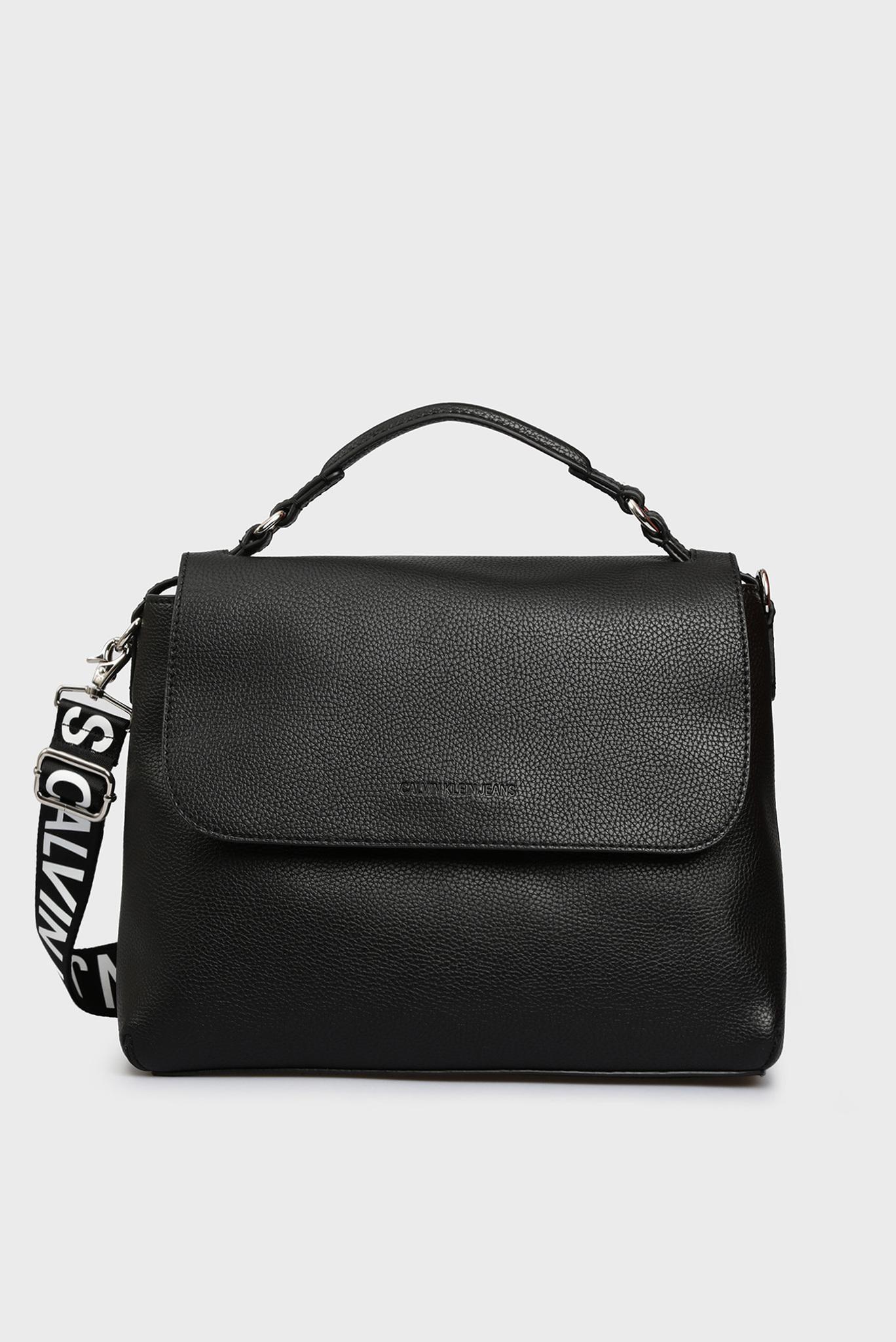 Женская черная сумка на плечо Calvin Klein