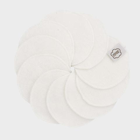 Очищающие диски для лица, орг.хлопок, 10 шт., White