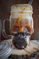 Баночка-череп для смузи и коктейлей, фото 5