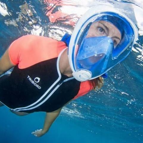 Маска для подводного плавания с трубкой Easybreath ( снорклинг маска)