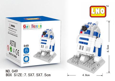 Education toys R2-D2 (Star Wars) || Конструктор из наноблоков (Звездные Войны)