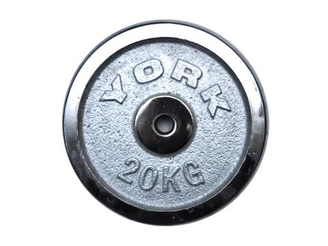 Диск для штанги хромированный. D-26 мм. Вес 20 кг
