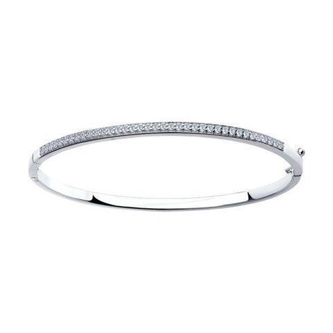 94050223 - Белый браслет из серебра с фианитами