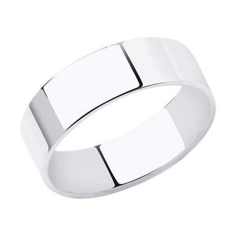 110230 - Широкое обручальное кольцо из белого золота 585 пробы
