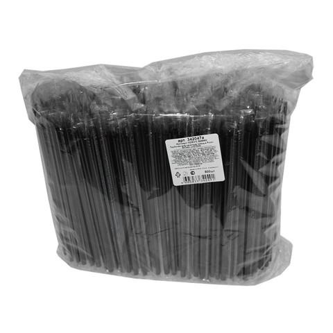 Трубочки для коктейлей Fresh прямые черные длина 210 мм 500 штук в полиэтиленовых упаковках