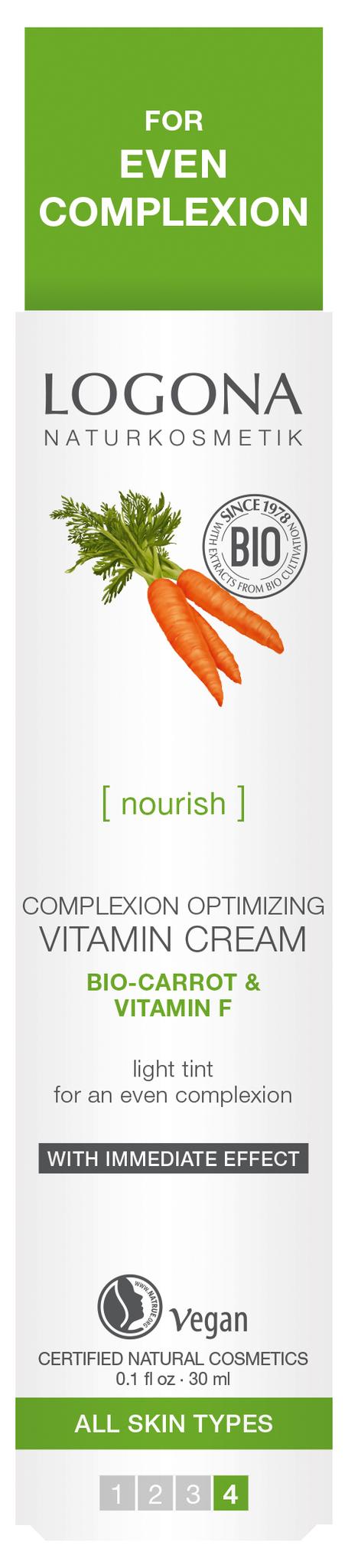 LOGONA Витаминный крем для улучшения цвета лица с Био-Морковью и Витамином F