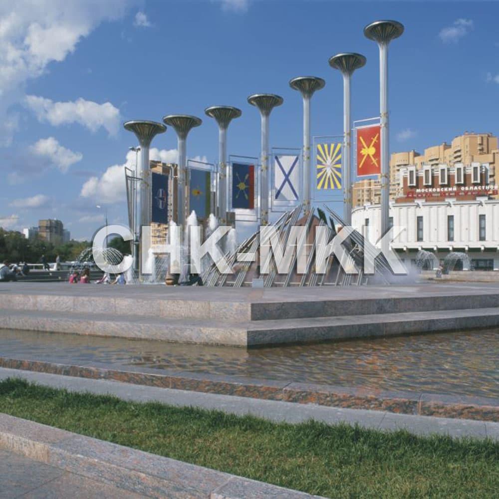 Фонтанный комплекс на площади Славы в Москве. Гранит Калгувара (фото №2)