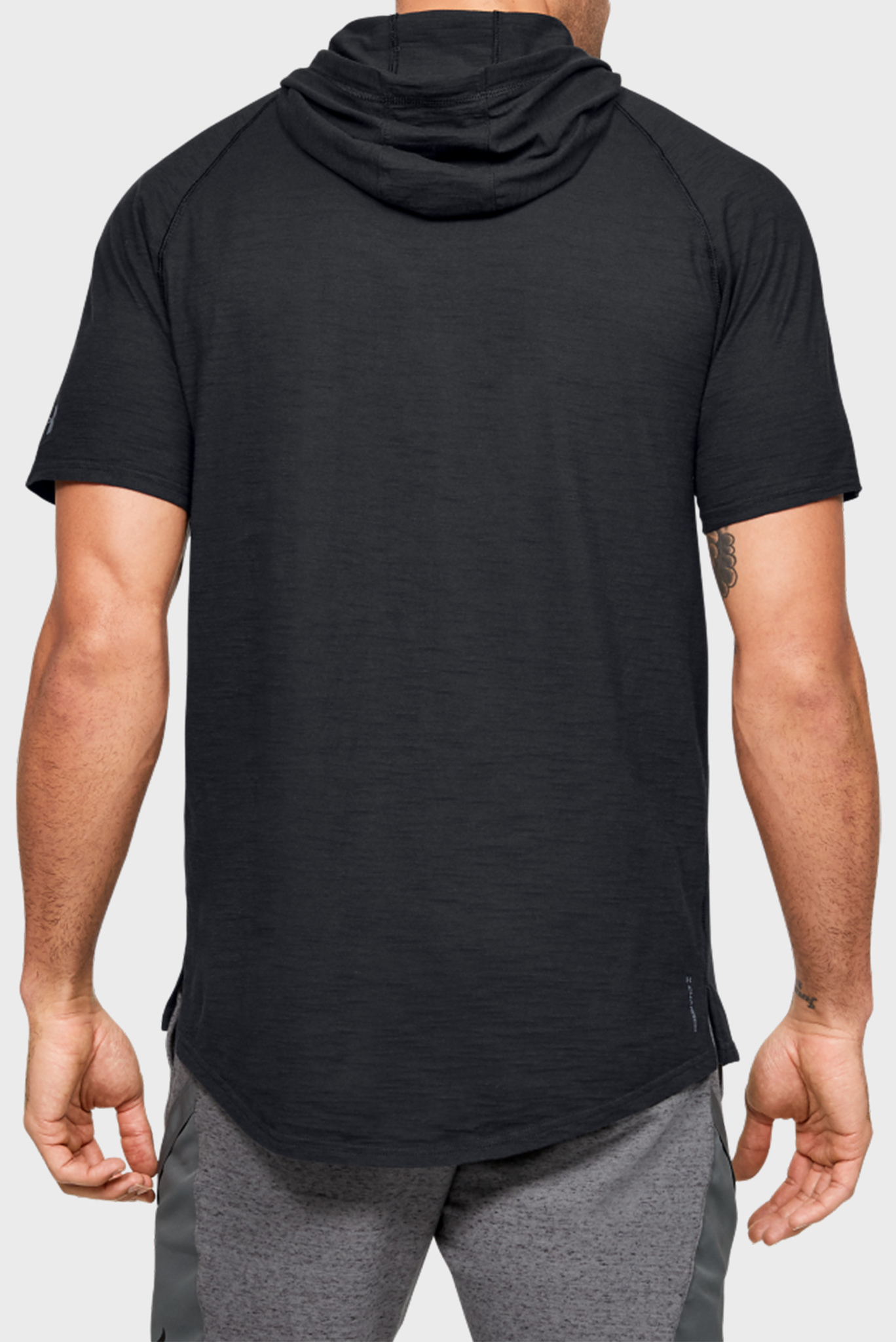 Мужская спортивная футболка-худи Project Rock Charged Cotton SS Hoodie Under Armour