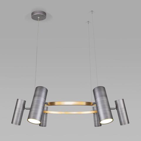 Подвесной светодиодный светильник 90103/6 матовый серый/золото