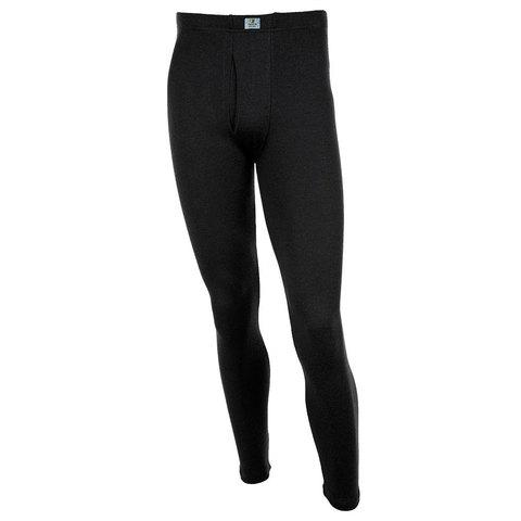 Janus, КАЛЬСОНЫ мужские плотные Black Wool, чёрный