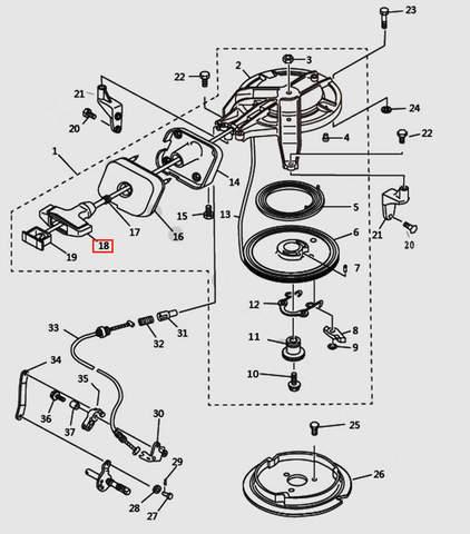 Ручка стартера для лодочного мотора T9.8 Sea-PRO (7-18)