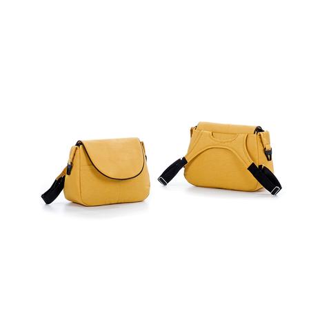 Коляска TUTIS Viva Life 2 в 1 пастельно-желтый + кожа шафрановый