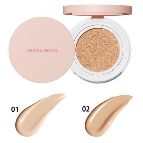 Тональное средство - кушон Derma Wear Cushion 02 Natural Beige 15гр