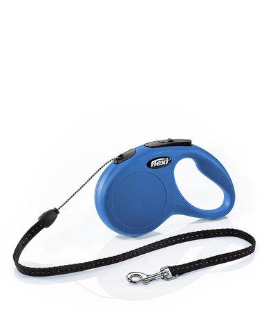 Flexi поводок-рулетка New Classic М (до 20 кг) 5 м трос (синяя)