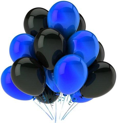 Воздушные шары с гелием Черно-синие