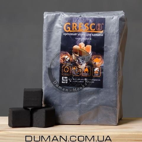 Натуральный Ореховый уголь Gresco (Греско) |1кг 72куб 25*25мм Пакет