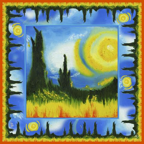 Шелковый платок Вангогия
