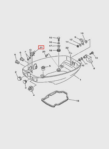 Зажим  для лодочного мотора T15, OTH 9,9 SEA-PRO (10-21)
