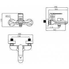 Смеситель KAISER Estilo 62022 для ванны схема