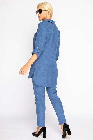 """<p><span>Костюм """"Твилла"""" -шикарный комплект для модниц! Прямые брюки на резинке отлично сочетаются с эффектной длинной туникой. Рукав 3/4 с """"патой"""".</span></p>"""