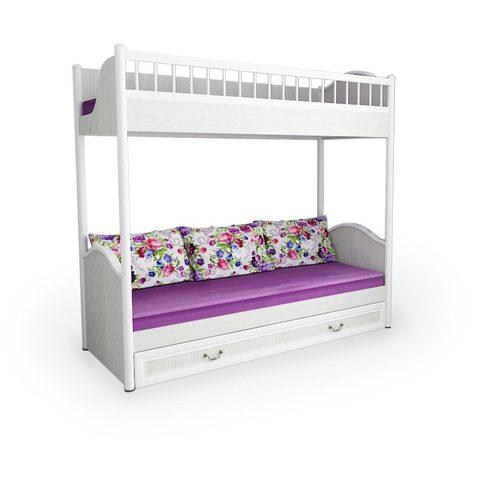 Кровать 2-х ярусная универсальная со сплошным ограждением и ящиком «Классика»