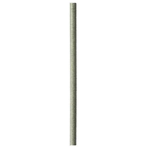Шпилька резьбовая DIN 975, М16x2000, 1 шт, класс прочности 4.8, оцинкованная, ЗУБР
