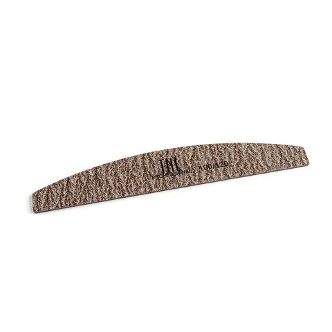 Пилка для ногтей лодочка 100/120 экстра-класс (коричневая) в индивидуальной упаковке