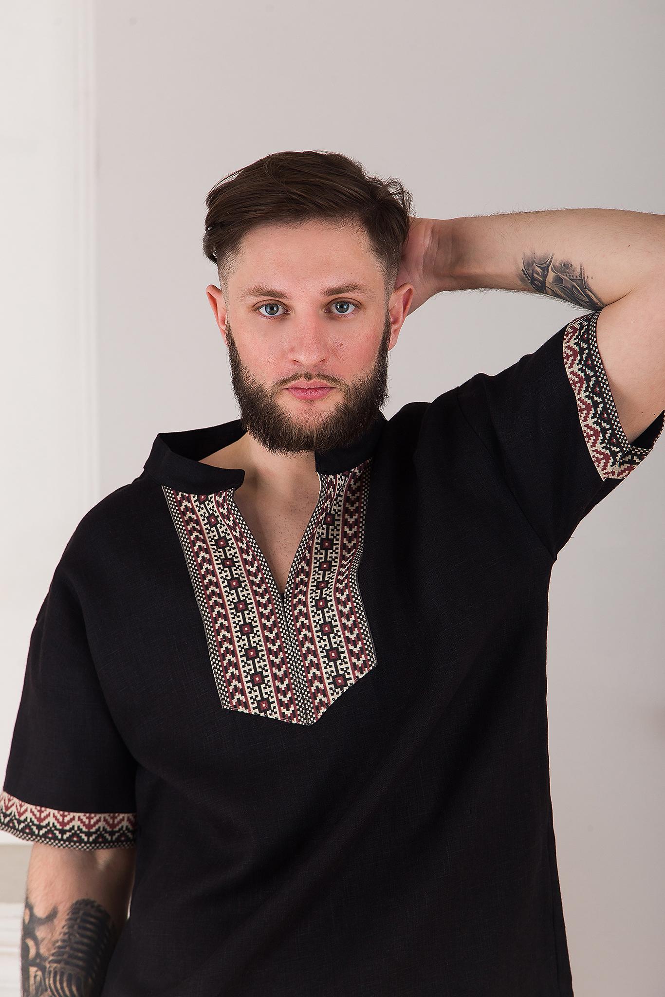 мужская современная русская рубашка