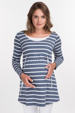 Туника для беременных и кормящих 10897 индиго