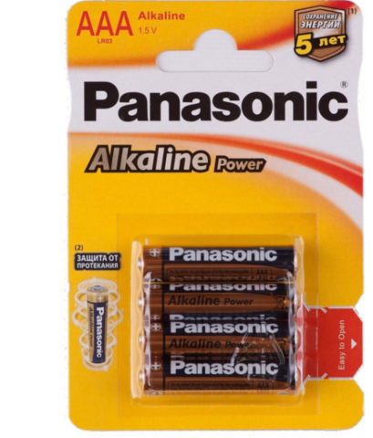 Батарейки Panasonic Alkaline Power LR03, AAA (4/48) BL