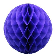 Бумажное украшение шар 40 см сиреневый
