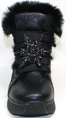 Женские зимние ботинки сникерсы