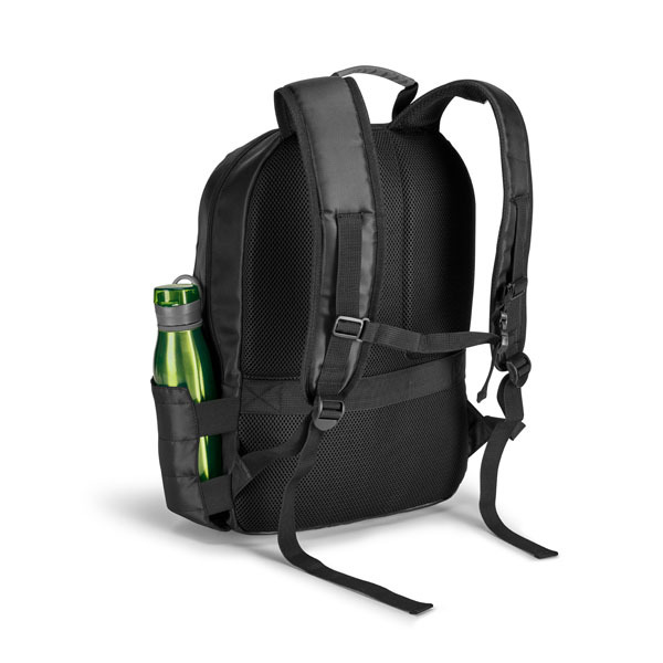 Bridge Laptop Backpack, black with grey