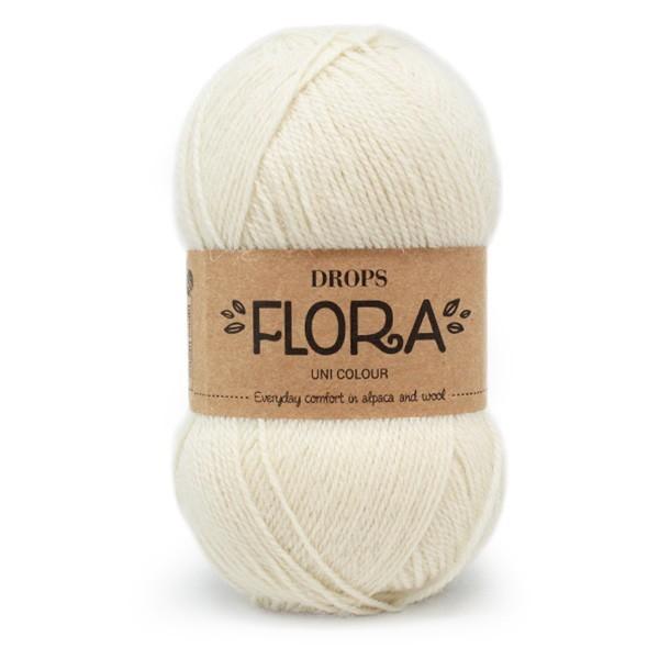 Пряжа Drops Flora 01 молочный