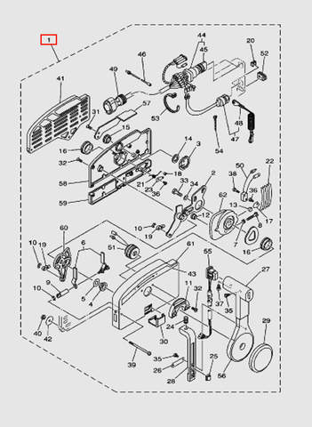 Машинка газ-реверс (10пин) для лодочного мотора T40 Sea-PRO (28-1)