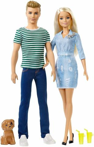 Barbie Барби и Кен На прогулке с щенком