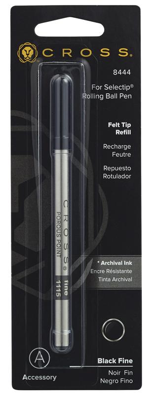 Cross Стержень капиллярный для ручки-роллера Selectip, F, черный
