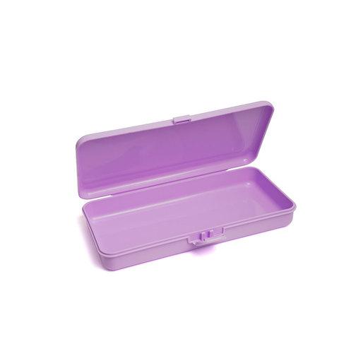 Пластиковый контейнер для хранения прямоугольный (сиреневый)