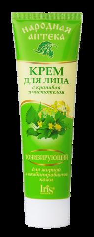 Iris Народная аптека Крем для лица для жирной и комбинированной кожи с крапивой и чистотелом 100мл