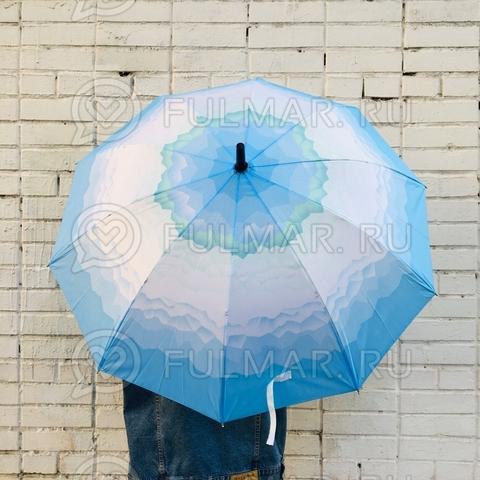 Зонт полуавтоматический «Фантазия» цвет: голубой