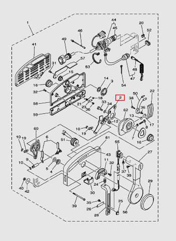 Кулиса Дистанционное управление для лодочного мотора T40 Sea-PRO (28-2)