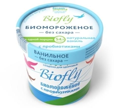 Биомороженное BIOfly на фруктозе,бумажный стакан, 45 гр. (Тимофеева)