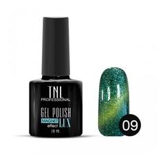 TNL, Гель-лак Magnet LUX №09 - изумрудный с блестками, 10 мл