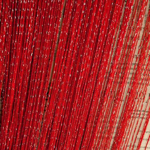 Шторы дождь однотонные - Красные. Ш-300см., В-280см. Арт. 17