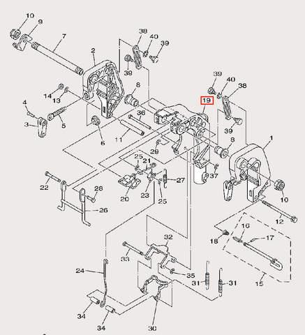 Скоба поворота для лодочного мотора F9,9 Sea-PRO (21-19)